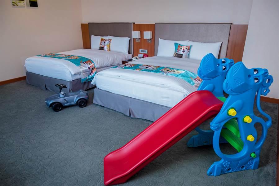 台中港酒店推出花博主題套房,早鳥優惠4000元有找。(王文吉攝)