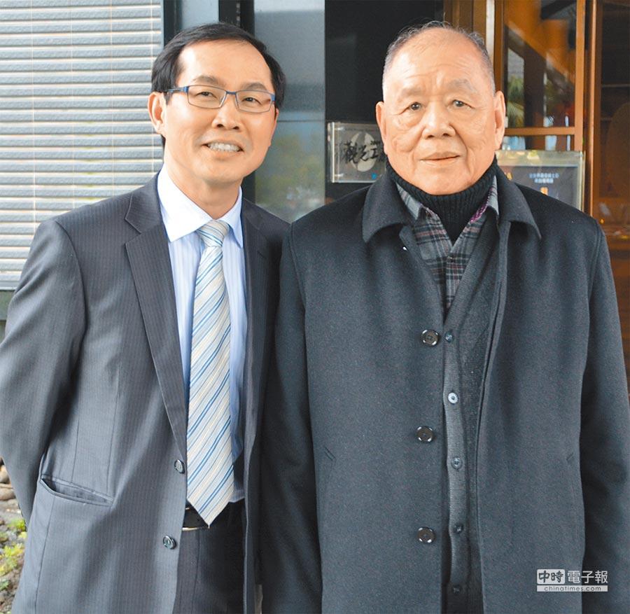 金車集團總經理李玉鼎(左)、金車集團董事長李添財。