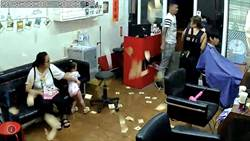 疑股東金錢糾紛 理髮店遭潑漆、撒冥紙