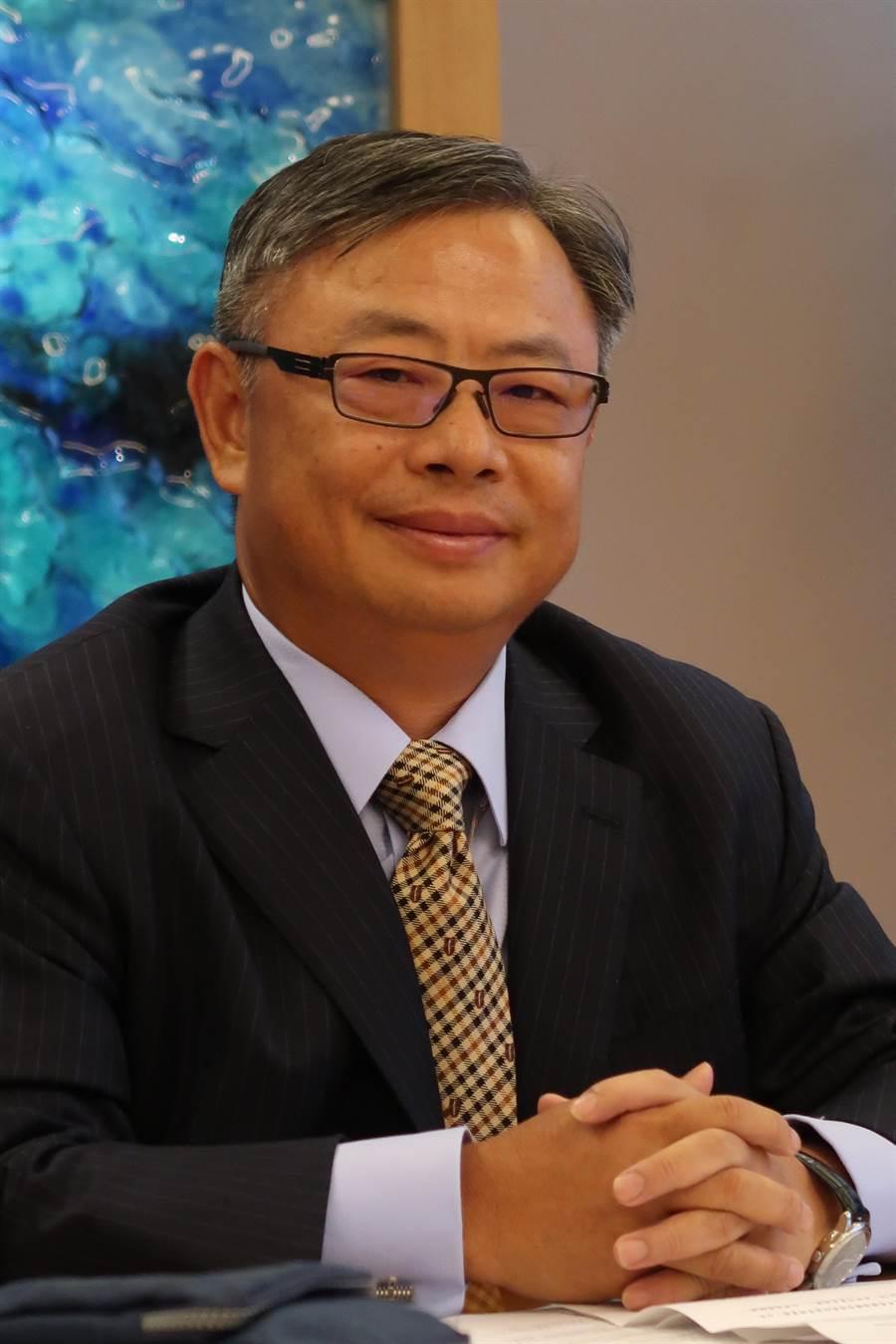 永豐金控總經理朱士廷今日主持法說會(魏喬怡攝)