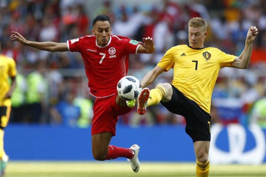 比利時在世界盃小組賽以5-2踢贏突尼西亞。(美聯社資料照)