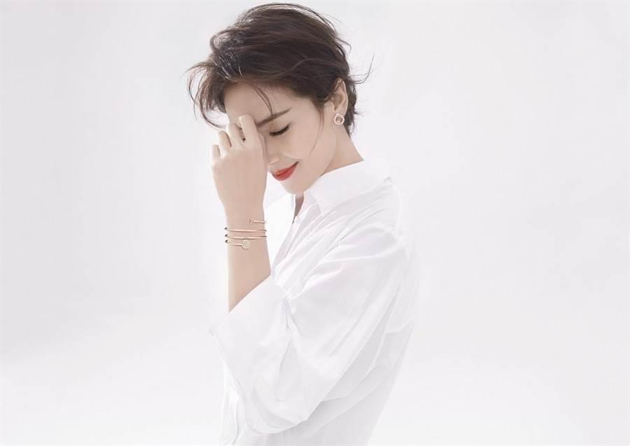 蕭邦邀請《羋月傳》、《瑯琊榜》中的劉濤展演Happy Hearts珠寶系列。( CHOPARD提供)