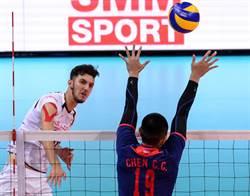亞洲盃男排》中華直落三飲恨伊朗 明爭季軍