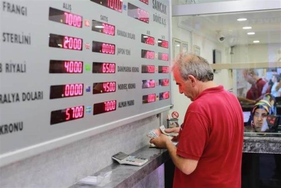 土耳其里拉近兩周暴跌43%,民眾與企業資產大縮水。(美聯社資料照片)