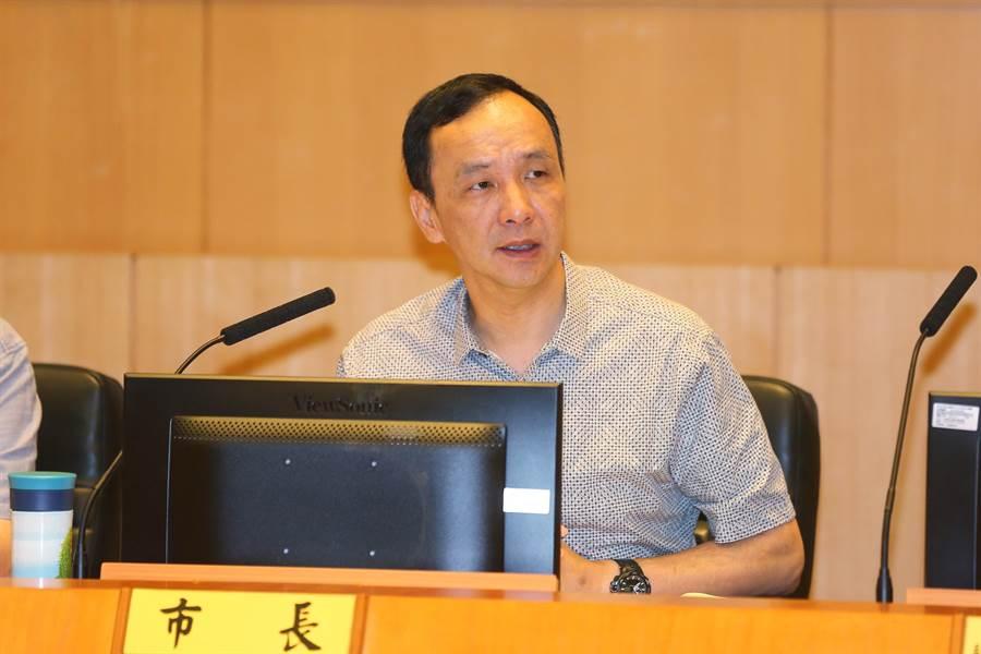 新莊台北醫院大火,朱立倫認為自動通報系統應該全面檢討。(葉德正攝)