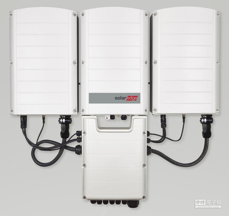 SolarEdge新三相逆變器由三台獨立逆變器組成,節省設備成本。圖/業者提供