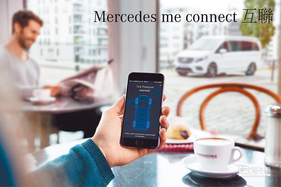 最新智慧服務品牌「Mercedes me」建構出移動、互聯、守護、智融、靈感等5大服務。(台灣賓士提供)