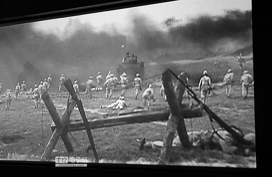 古寧頭珍貴歷史紀錄影片畫面。(本報系資料照片)