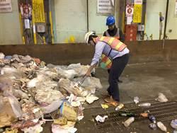 中市垃圾進焚化爐加強末端管制落地目視次數高於中央規定