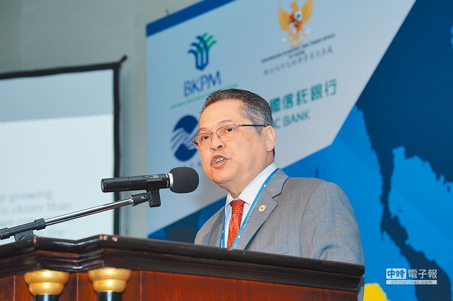 駐台北印尼經濟貿易代表處代表羅伯特(Robert James Bintaryo)。圖/陳昌博