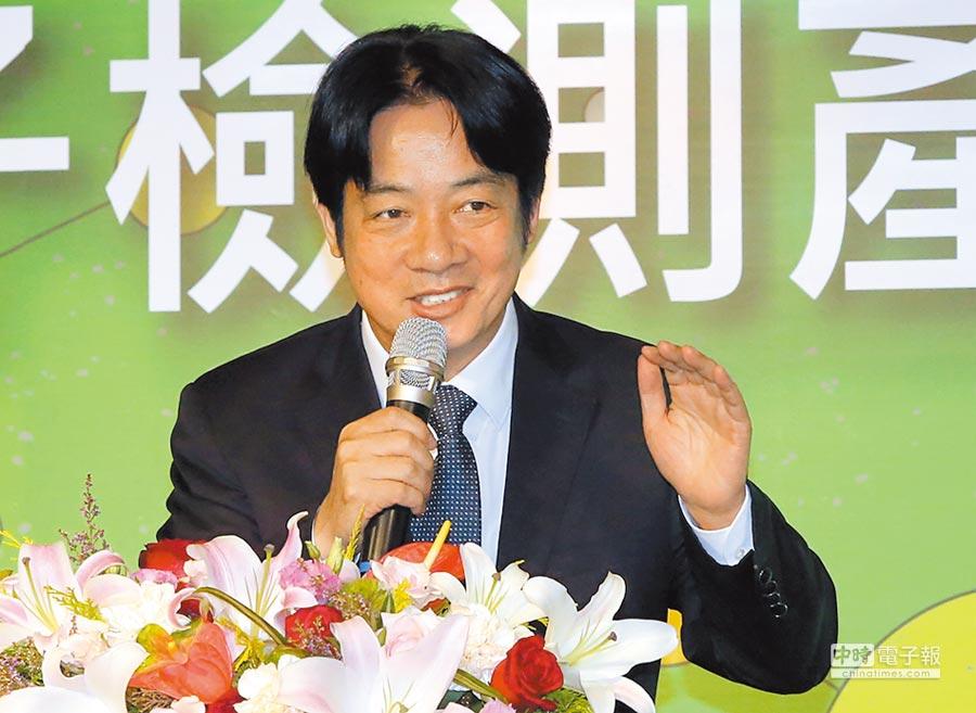 行政院長賴清德表示,這波加薪對物價不至於造成太大的波動。圖/趙雙傑