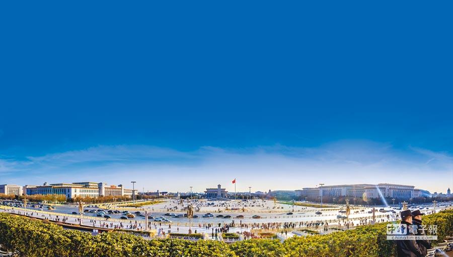 天安門廣場。