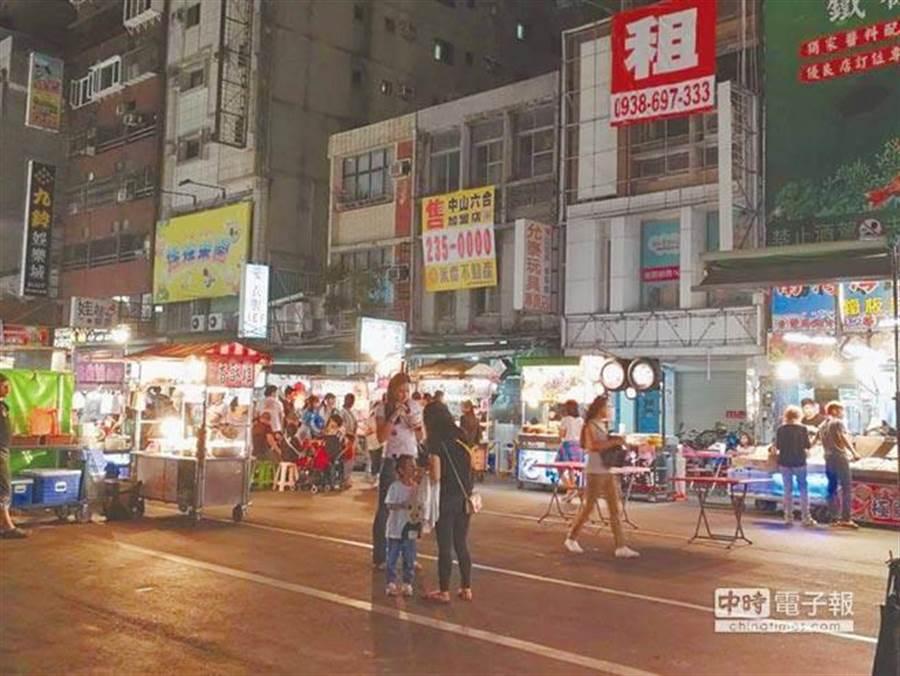 六合夜市榮景大不如前,價錢卻成反比。 (圖/本報資料照)