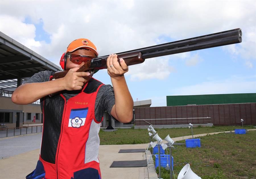楊昆弼去年在亞運男子射擊不定向飛靶也搶下金牌。(資料照, 中華奧會提供)