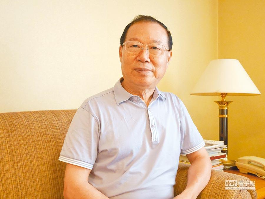 國台辦前副主任王在希分析八二三戰役對兩岸關係的啟示。(記者陳君碩攝)