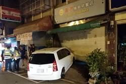 酒駕擦撞警車又撞進早餐店 「盧」警男酒測值0.75