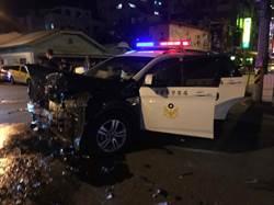 酒駕男市區狂飆撞爛警車 上網討拍被噓爆
