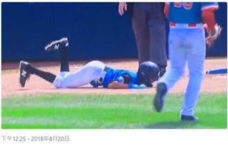 影》好痛!少棒球員短打被快速球爆蛋