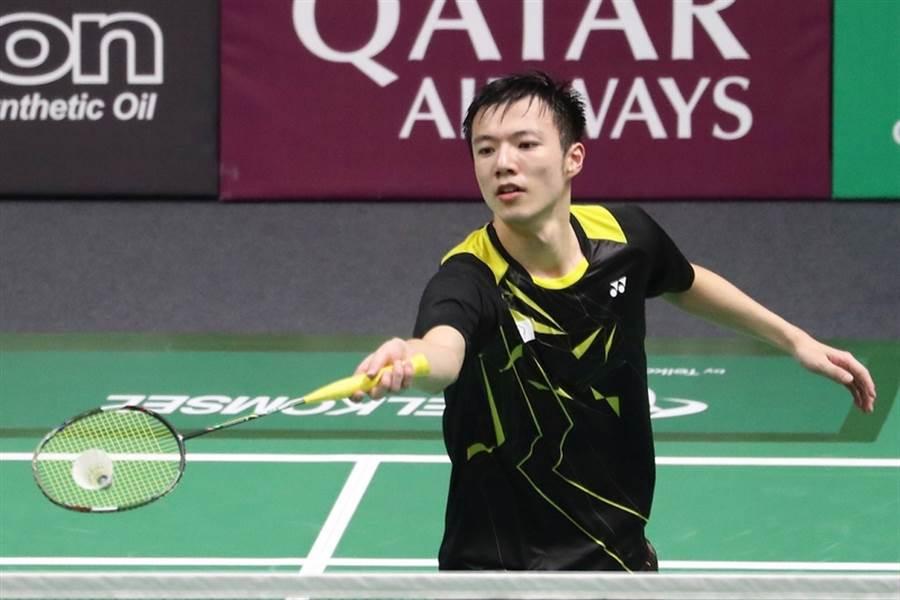 王子維在2019年世界羽球錦標賽第一輪,短短34分鐘就獲勝晉級。(資料照/中央社記者吳翊寧雅加達攝 107年8月21日)