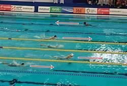 亞運》與別人游不同方向 馬爾地夫泳氣可嘉