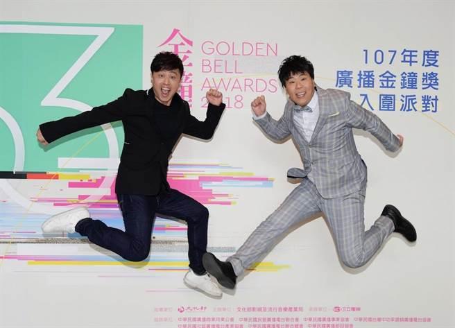 黃丹尼(左)和邵大倫擔任廣播金鐘獎入圍名單揭曉嘉賓。