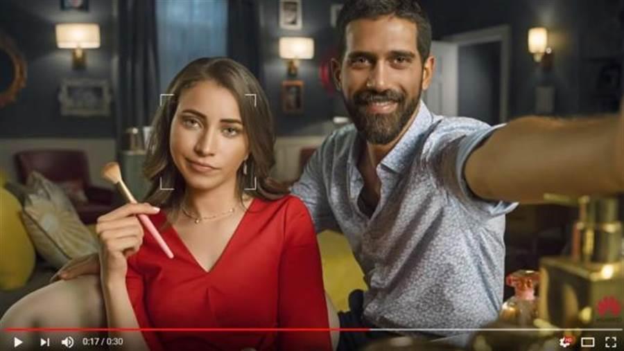 華為Nova 3手機宣傳影片,被發現疑似造假,利用單眼照片充當手機實拍照。(圖/翻攝YouTube頻道)