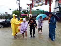 「炮彈雨」道路成汪洋  麻豆緊急疏散48人