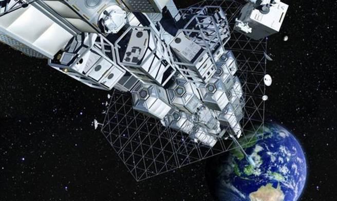 畫家筆下的太空電梯想像圖。(圖/網路)