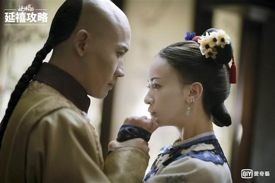 魏瓔珞與皇帝。(取自微博)
