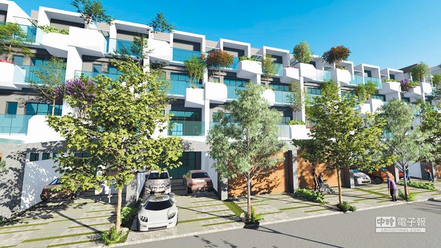 開富力建設烏日高鐵特區「FREE HOUSE」電梯別墅個案,垂直綠化設計,與公園自然共生,打造幸福好宅。 (圖/黃繡鳳)
