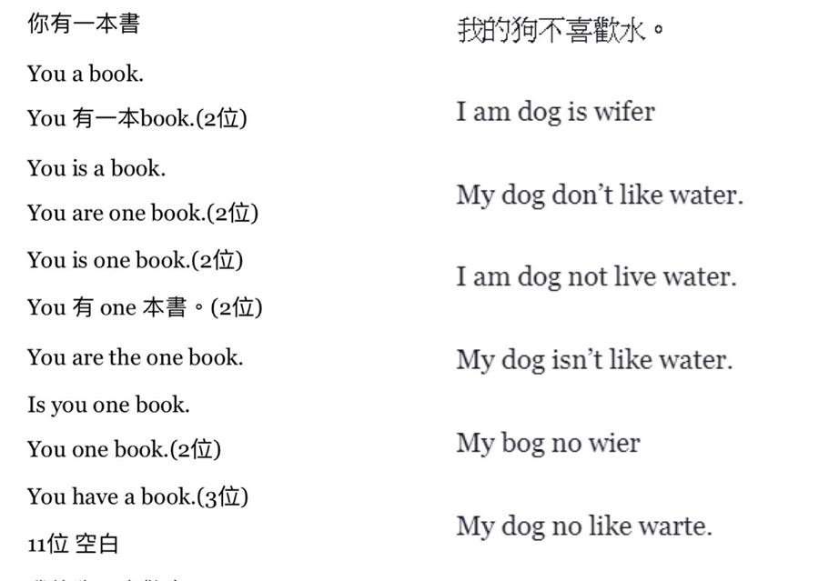 台灣國中生中翻英結果讓李家同感嘆:「看了會很遺憾」。(翻攝自李家同臉書)