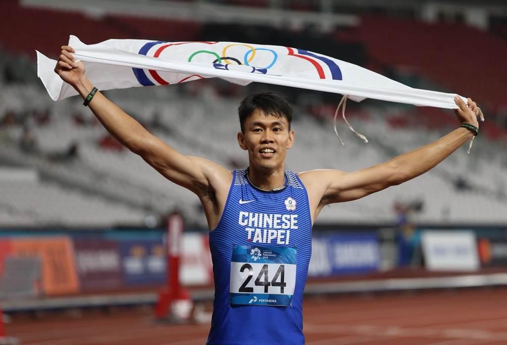 今年度亞洲排名第二的中華台北田徑好手陳奎儒,在雅加達亞運田徑男子110公尺跨欄,最終以13秒39摘銀,秒數也刷新全國紀錄。(陳怡誠攝)