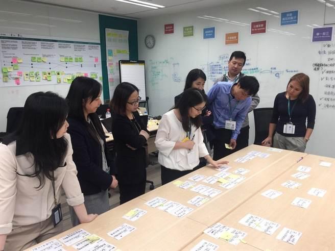 台灣人壽成立的EdgE數位實驗室(End to End process Digitalization)接續研發出一系列銷售行動化工具。(台壽提供)