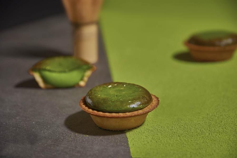 「京都抹茶起司塔」香甜口感繚繞舌尖,尾韻帶有淡淡苦味。(圖片提供/ BAKE CHEESE TART)
