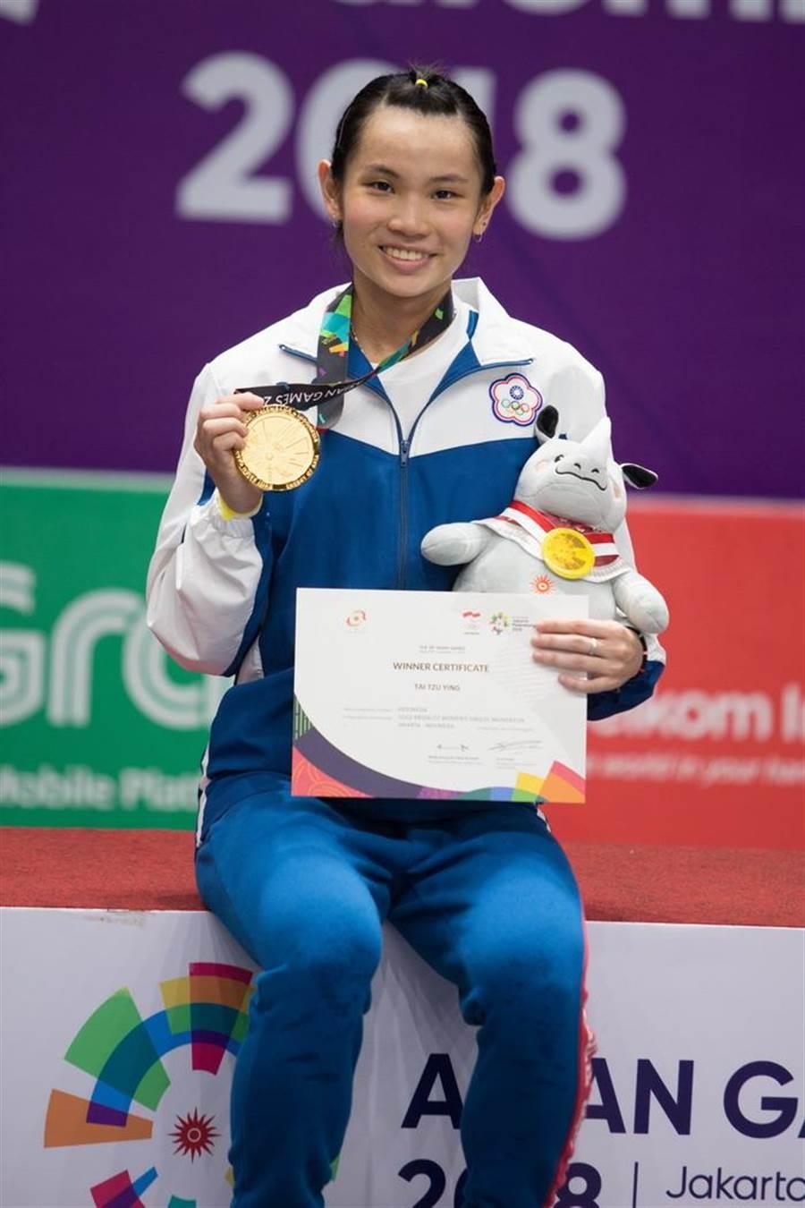 戴資穎強調自己拿下亞運金牌,希望能在台灣更加重視羽球。(杜宜諳攝)