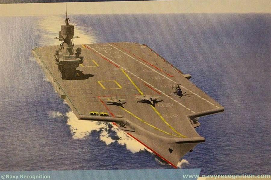 俄國軍艦設計中心克雷洛夫研究所提出排水量4萬噸的輕型航空母艦,希望俄羅斯海軍能夠採用。(圖/navyrecognition)