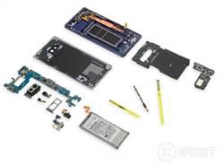 三星Galaxy Note 9拆解分數僅4分 維修難度高