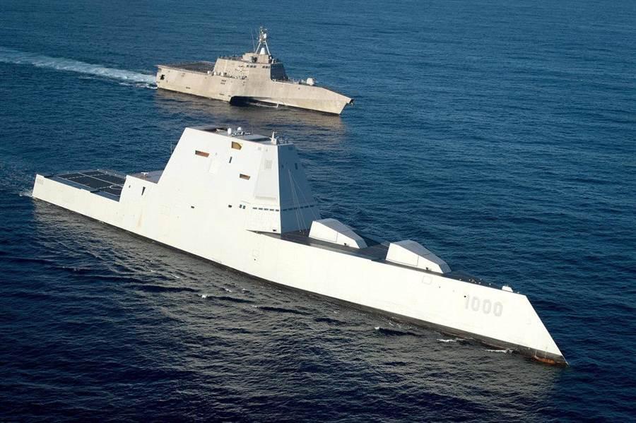 DDG1000也是失敗的造艦計畫,只有3艘的預算,無法形成戰力。(圖/美國海軍)