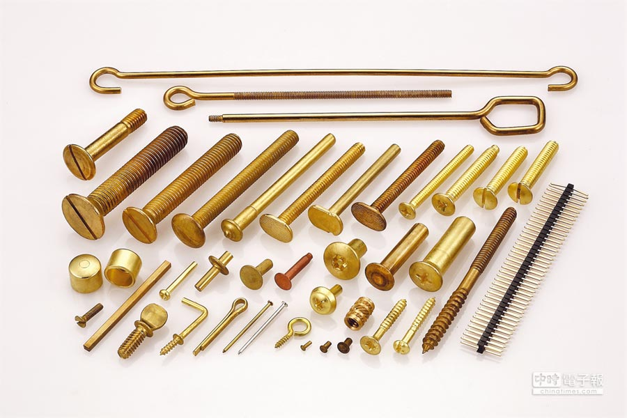元祥金屬的銅合金線棒材可產製出卓越品質表現的冷打成型件及螺絲緊固件。圖/業者提供