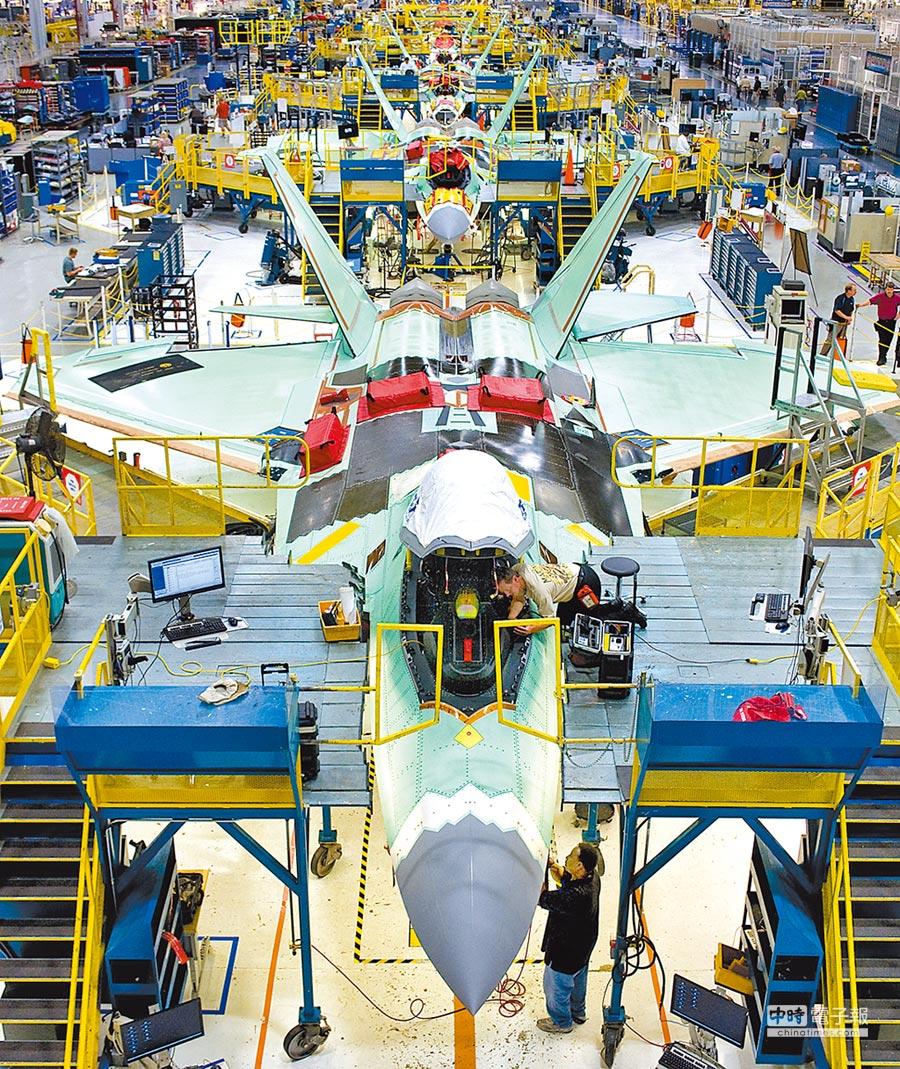美軍F-22戰機生產線。(取自Lockheed Martin官網)