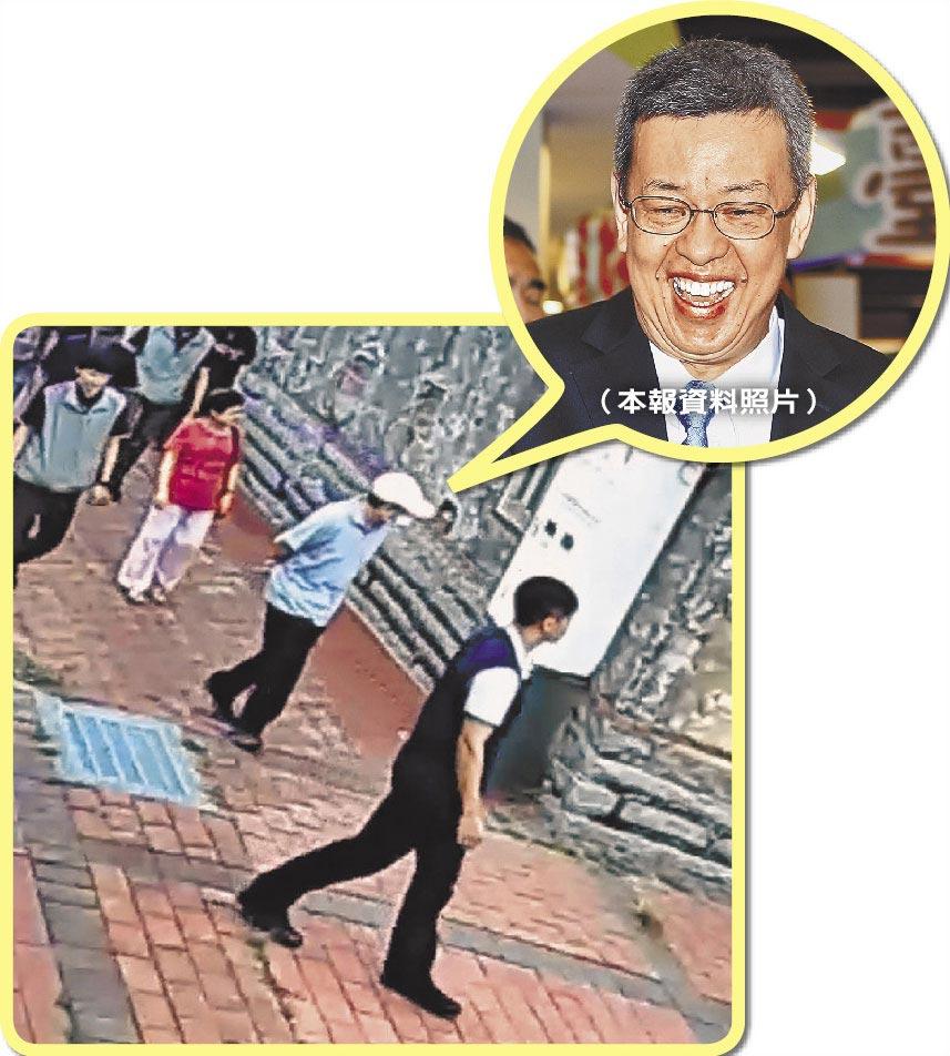 副總統陳建仁(戴白色運動帽者)帶家人遊金門,全程十分低調。(李金生攝)