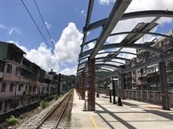 台鐵三坑車站加蓋遮雨棚 10月底完工