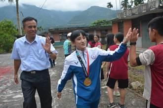 亞運金牌谷筱霜返母校 民和國中師長教練鄉親溫馨迎接