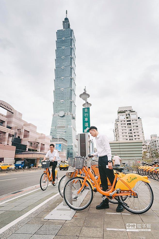 YouBike透過樁點,使自行車的租借、停放更為規範。(YouBike提供)