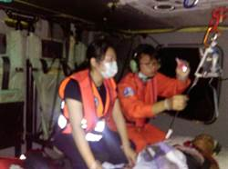 蘭嶼80歲老翁疑遭豬咬傷 黑鷹直升機後送
