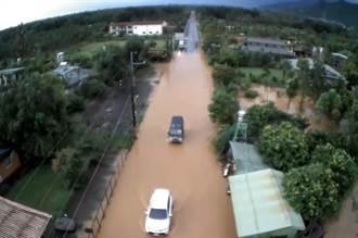 超大午後雷陣雨 屏東沿山公路、赤山淹水