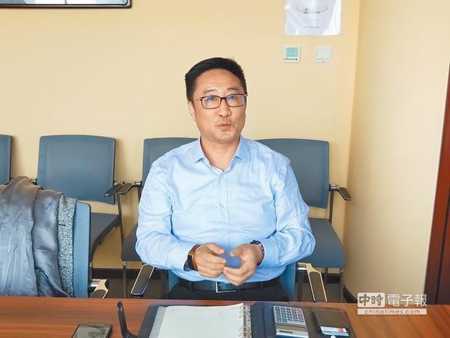 北京市涉台法律事務研究會副會長兼祕書長沈騰。(記者陳君碩攝)