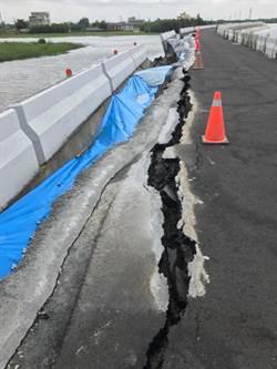 雲林台西鄉雨後路破、堤防塌陷  公所全力搶救