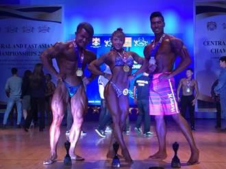 筋肉「健」兒 蒙古國際東亞健身錦標賽摘金奪銀