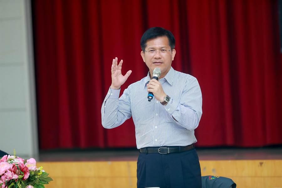 捷運綠線快完工,台中市長林佳龍表示,市府已成功爭取捷運藍線,將與捷運綠線成為十字軸路網。(盧金足攝)